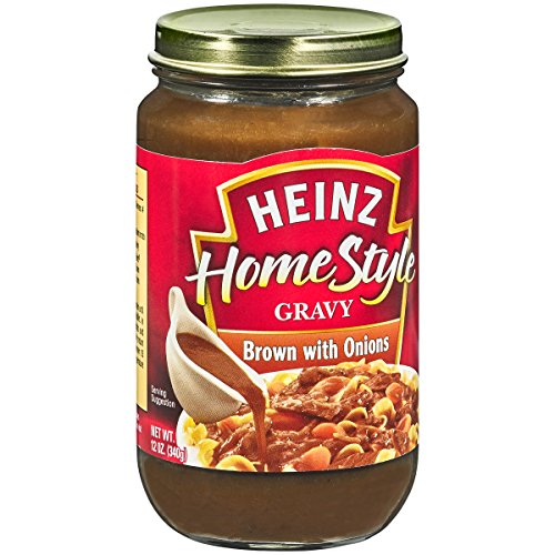 Heinz Homestyle Brown Gravy with Onions (12 oz Jars, Pack of 12)