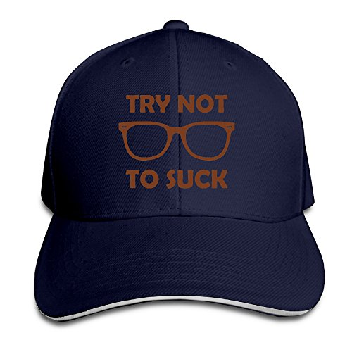 Try Not To Suck Glass Design Style Hat Sandwich Peaked - Glasses Online Try
