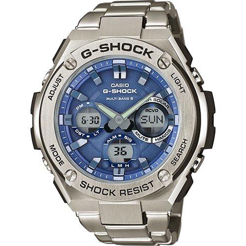 Casio Reloj Analógico-Digital para Hombre Correa en Acero Inoxidable GST-W110D-2AER: Amazon.es: Relojes