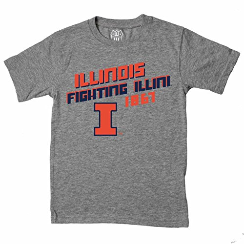 - Wes and Willy Illinois Fighting Illini Youth NCAA Biggest Fan T-Shirt - Charcoal, Youth Large