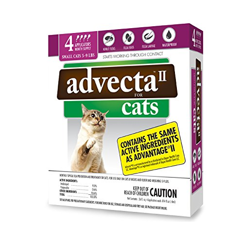 Advecta II Flea Treatment for Cats 5-9 lbs - 4 Month Supply
