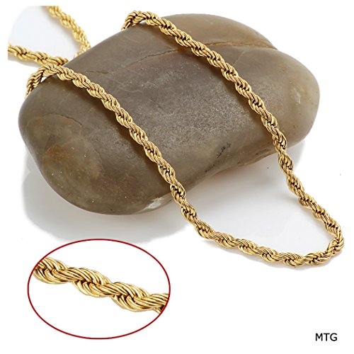 Gold Chain Necklace 3mm Rope Chain Real Solid 14k Gold Filled Tarnish Resistant USA Made! (28)