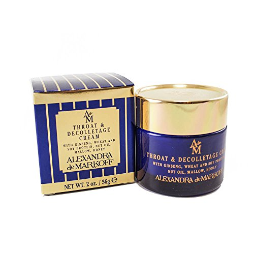 Alexandra De Markoff Throat & Decolletage Cream With Ginseng Wheat & Soy Protein, Nut Oil