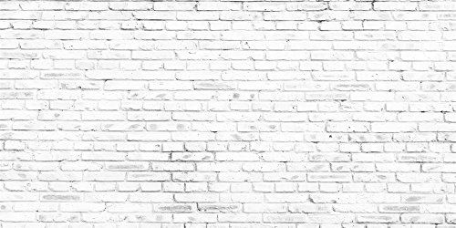 Kate 20x10ft Vintage White Brick Wall Photography Backdrops Retro Backgrounds Without Wrinkles by Kate