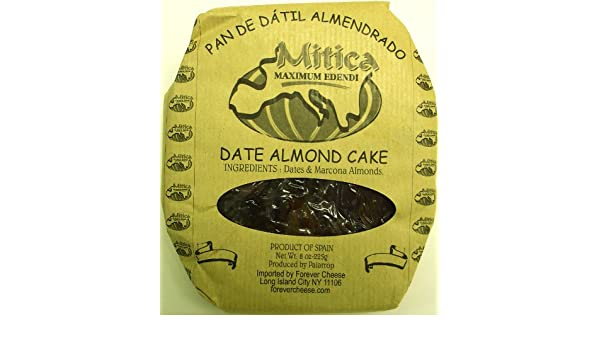 Amazon.com : Spanish Date and Marcona Almond Cake - 1 x 8 oz : Dates Produce : Grocery & Gourmet Food