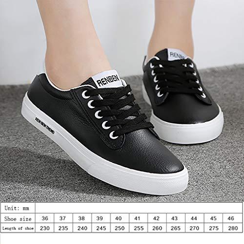 Zyfxz Casuales Seguridad De Tamaño B Blancos Lona Colores Botas Trabajo tres Planos Mujer Opcionales Gran Zapatos zapatos Blancos Estudiante 44 35 rwfx5IqrRE