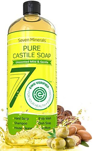 EWG Verified Castile Soap 33.8 fl oz - No Palm Oil, GMO-Free...