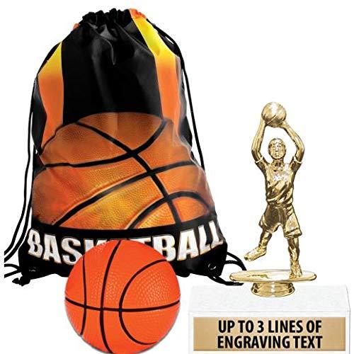 Crown Awardsバスケットボールグッディーバッグ バスケットボールの記念品テーマパーティー用品 パーソナライズされた男の子用バスケットボール 子供用トロフィー スクイッシュボール バスケットボール 引き紐付き プライム 10 AZ-PFBAJM10PR B07MDLBRR8  10