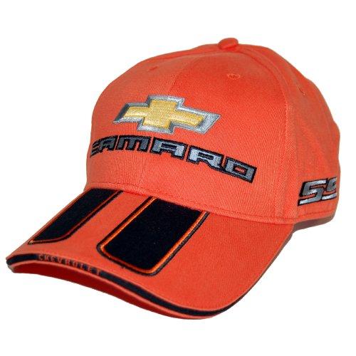High-End Motorsports Chevrolet Orange Camaro Hat Cap - SS Rally Stripe