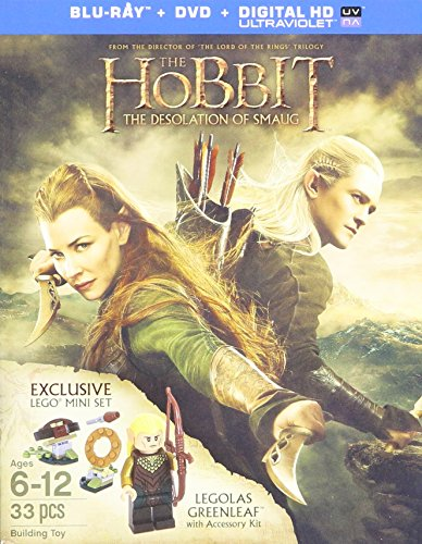 The Hobbit: Desolation of Smaug Blu-ray/DVD/Digital HD Includes Exclusive Lego 33 Pc. Miniset featuring Legolas Greenleaf