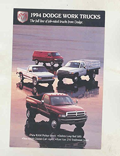 Ram Dakota Van (1994 Dodge Van Dakota Ram Pickup Truck Factory Postcard)