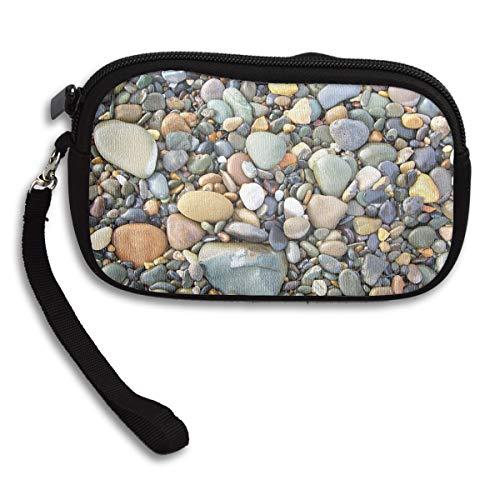 Mr.Roadman Little Wallet - Pebble Stone Pattern Art Coin Purse Storage Package - Money Holder Bag Key Handbag - Zipper Mini Wallet for Men & Women - Pebble Sooners Oklahoma