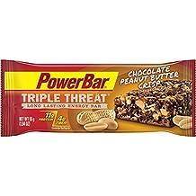 PowerBar Triple Threat Chocolate Peanut Butter Crisp, Box of 15