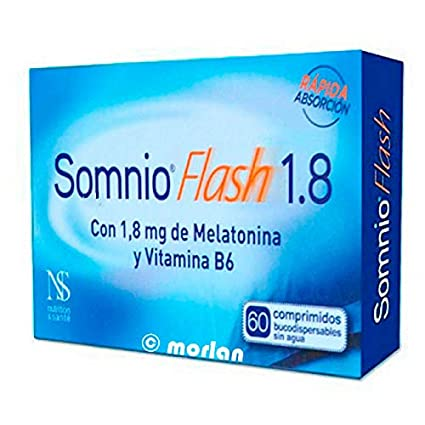 Somnio Flash 1.8mg Melatonina Vitamina B6, 60comprimidos