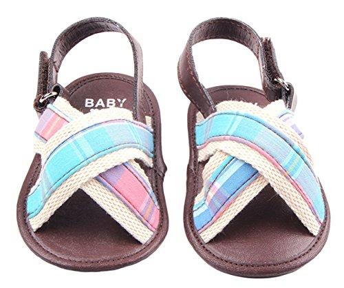 La Vogue Sandalias Bebé Zapatos Primeros Rayas Azul Talla13/12.5cm