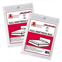 "Full Size Mattress Covers / Mattress Bags 54"" x 12"" x 90"" Moving Supplies (2 Pack)"