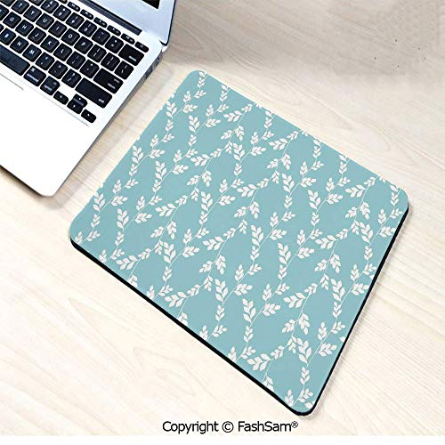 Non-Slip Rubber Mouse Pads Rural Meadow Field Yard Wildflowers Farmhouse Style Cottage Countryside Garden for Computers Laptop Office(W7.8xL9.45)