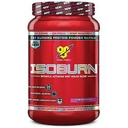 BSN ISOBURN Protein Powder - Strawberry 1.32 Pound