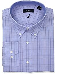 Men's Classic Fit Performance Windowpane Button Down...