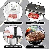KitchenBoss Sous Vide Aparato de Cocina Precisión 1100W Inmersión a Prueba de Agua IPX7 Circuladores Control de Temperatura de Precisión Incluido 10 Bolsas envasado al vacío: Amazon.es