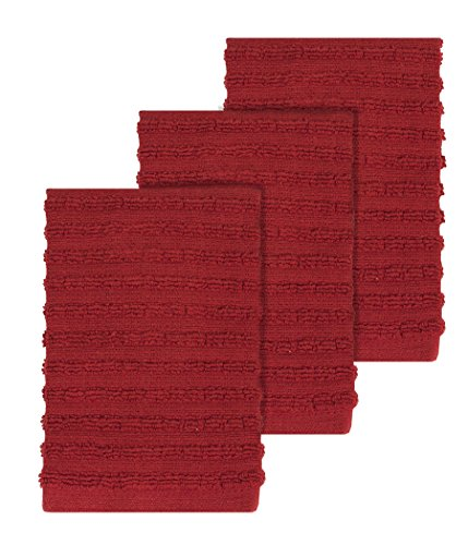 Ritz Royale Collection 100% Combed Terry Cotton, Highly Absorbent, Kitchen Dish Cloth Set, 13-3/4