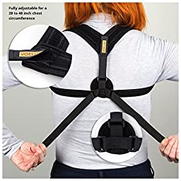 VOELUX Posture Corrector Clavicle Support Brace For Men & Women Upper Back