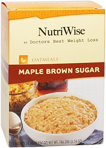 NutriWise - Maple Brown Sugar Protein Diet Oatmeal (7/Box) by NutriWise by NutriWise