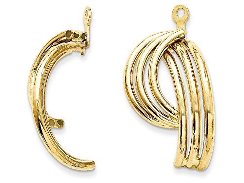 14 kt Yellow Gold Polished Fancy Earring Jackets by Finejewelers