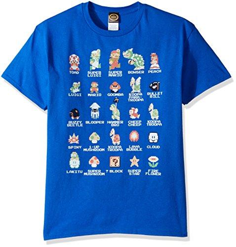 Nintendo Mens Pixel Cast T Shirt