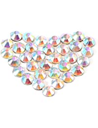 Museya A Set of 1400pcs SS10 3mm Crystal AB Resin Hotfix Rhinestones Flatback for DIY Clothes Bag Jewelry Cellphone...