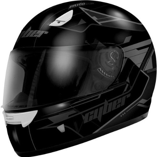Cyber Helmets US-39 Graphics Helmet , Size: Sm, Primary Color: Black, Distinct Name: Matte Black, Helmet Type: Full-face Helmets, Helmet Category: Street, Gender: Mens/Unisex 640581