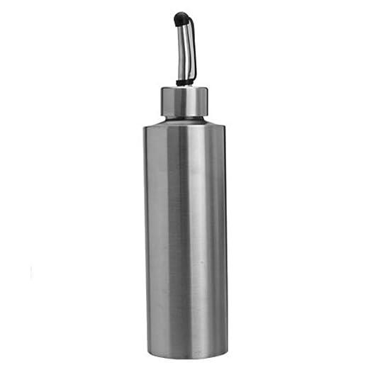 Heaviesk Aceitera a Prueba de Fugas de Acero Inoxidable Especia Botella de Aceite a Prueba de Polvo Cocina SH135