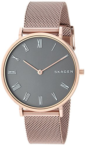 - Skagen Women's Slim Hald Analog-Quartz Watch with Stainless-Steel Strap, Rose Gold, 16 (Model: SKW2675)