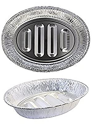 Plastible Disposable Turkey Roasting Pans Extra Large, Heavy-Duty Aluminum Foil | Deep, Oval Shape for Meat, Chicken, Roasts, Ribs, Cooking | Recyclable