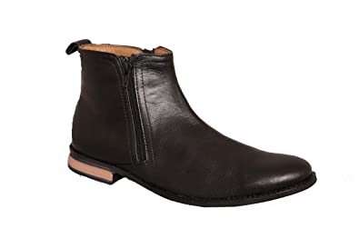 buy popular size 40 super quality Elements Mens Formal Zip Boot Shoes: Buy Online at Low ...