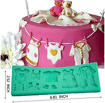TANGCHU Fondant Cake Encaje Mold Línea de ropa de bebé de ...