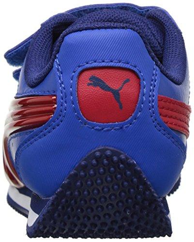 PUMA Baby Speed Lightup Power V Kids Sneaker, Lapis Blue-Toreador, 4 M US Toddler