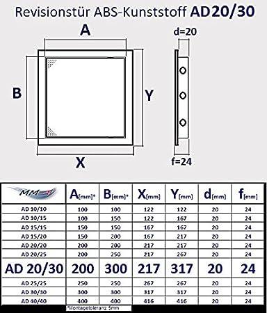compuerta de revisi/ón pl/ástico ABS de alta calidad en color blanco Puerta de inspecci/ón