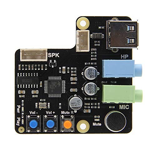 Raspberry Pi X350 Microphone Input/Audio Input & Output USB Audio/Sound Card for PC/Raspberry Pi 3 Model B +(Plus)/3B/2B/B+