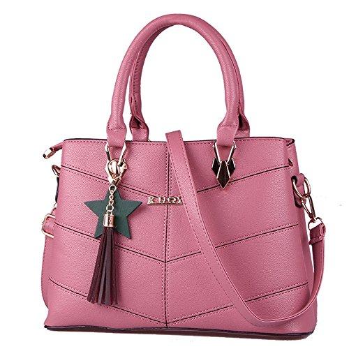 colore Tote Selvaggia Bag Rosso Nero Rosa Diagonale Xuanbao Donna afnSqOZx