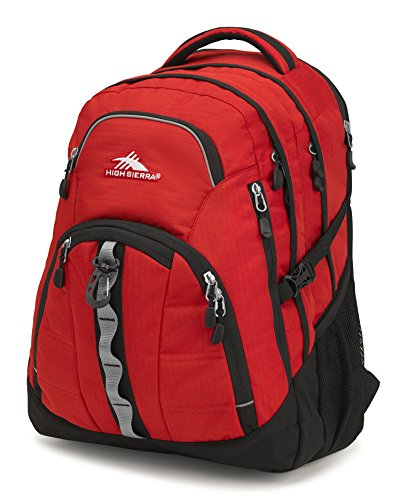 High Sierra Access 2.0 Laptop Backpack, Crimson/Black -15-inch Laptop Backpack for High School or College