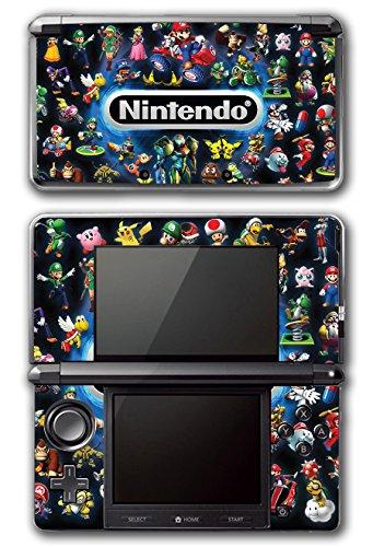Super Game Bros Mario Original (Nintendo Characters Mario Luigi Link Bowser Samus Wario Yoshi Zelda Super Smash Bros Ultimate Video Game Vinyl Decal Skin Sticker Cover for Original Nintendo 3DS System)