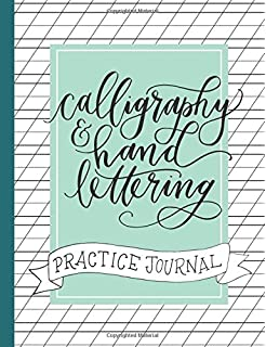Calligraphy And Hand Lettering Practice Journal Alphabet Dot Grid Lined Guide Sheets