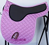 HORSE QUILTED ENGLISH CONTOURED GEL SADDLE PAD Jumping Tack Riding Pink 72F17