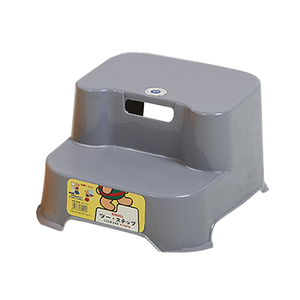 KICCOLY 2 Step Transitions Step Stool,2-Step Molded Plastic Stool with Non-Slip Step Treads, 200-Pound Capacity (Gray) SCHOFIELD E-Commerce Co. Ltd. CHUNHUI