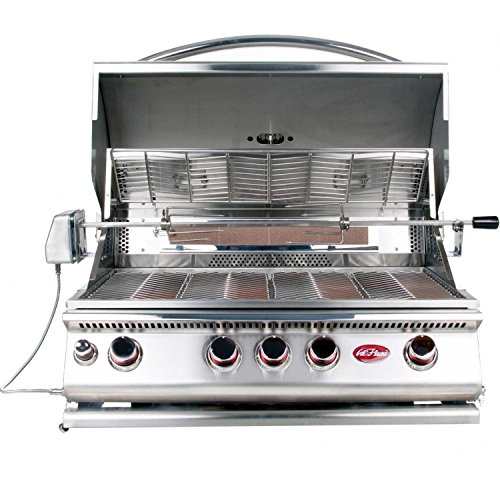 Cal Flame BBQ13874CP 4-Burner Built-In Stainless Steel Propa