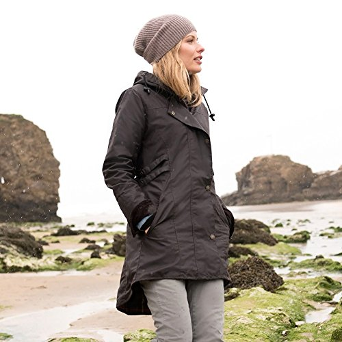 Celtic and Co Womens Wax Riding Style British Made Rain Coat - Dark Brown - Size 14 by Celtic & Co (Image #2)