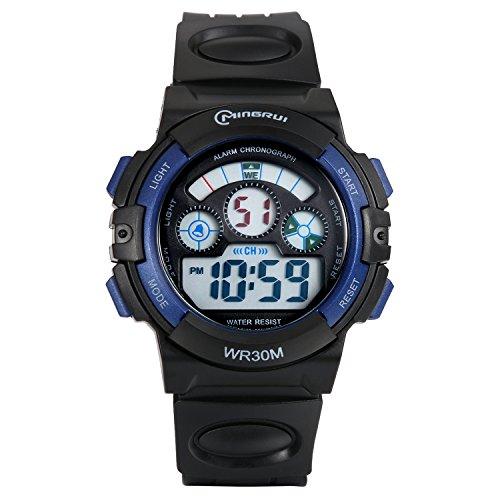 Lancardo Reloj Deportivo Digital de Multifunción con Luces Pulsera Electrónica Resistente al Agua de 30m para Actividad...