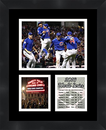 Chicago Cubs 2016 World Series Photo Collage Framed