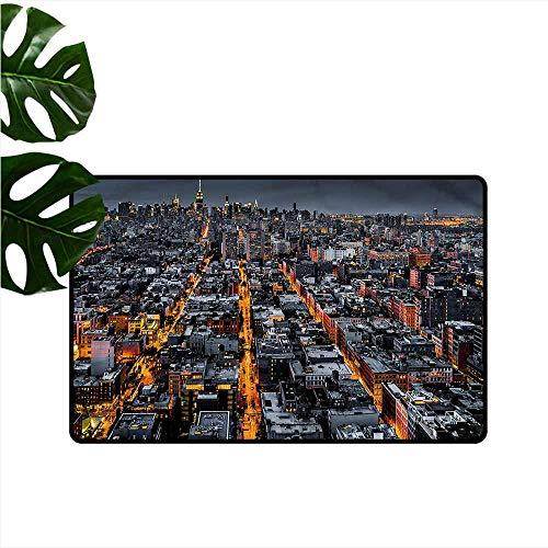HOMEDD Bedroom Doormat,City Avenues to Midtown NYC,Rustic Home